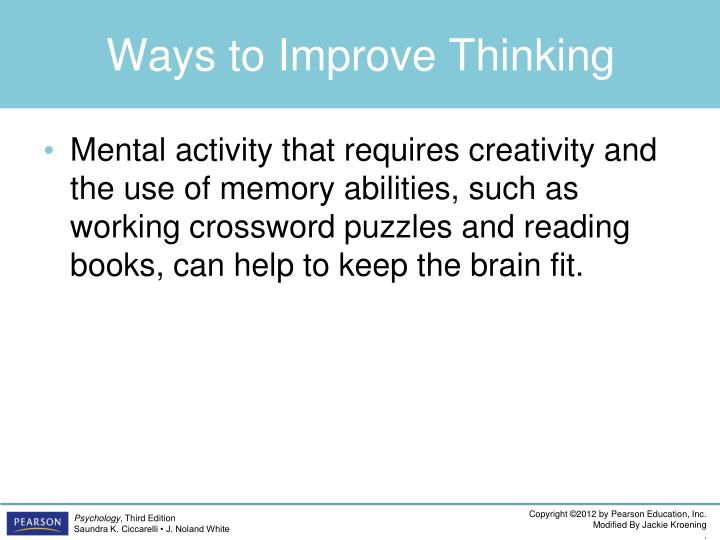 Ways to Improve Thinking