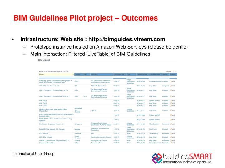 BIM Guidelines Pilot project –