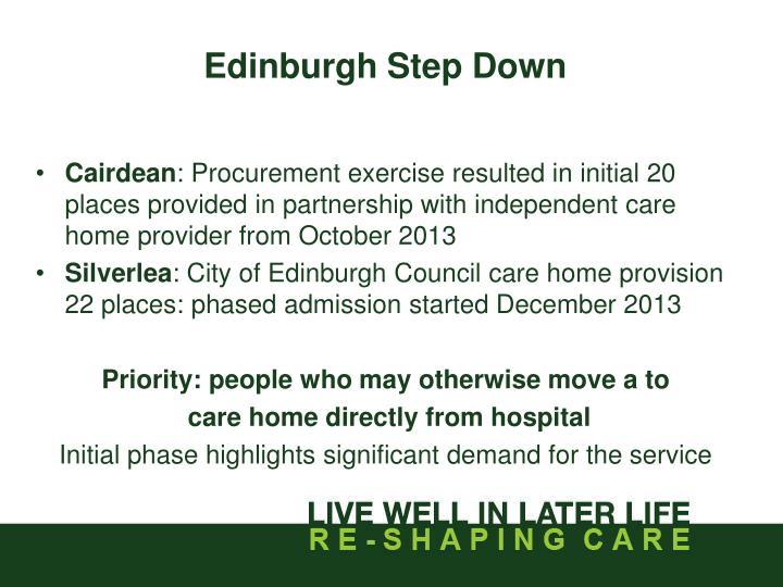 Edinburgh Step Down