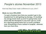 people s stories november 20132