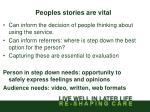 peoples stories are vital
