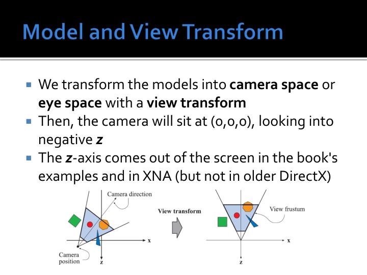 Model and View Transform