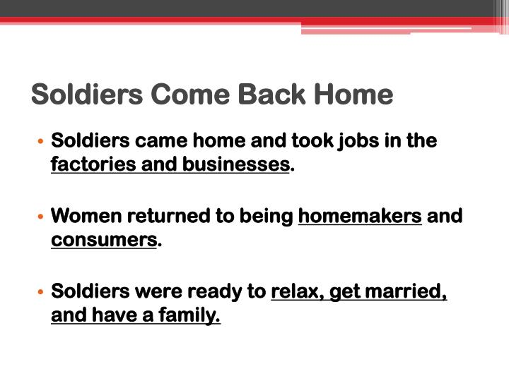 Soldiers Come Back Home