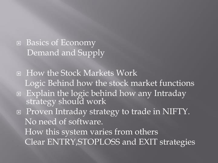 Basics of Economy