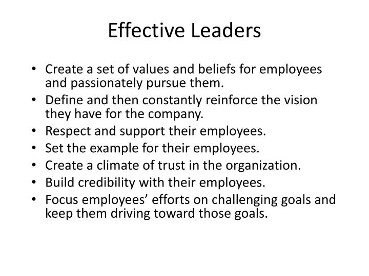 Effective Leaders