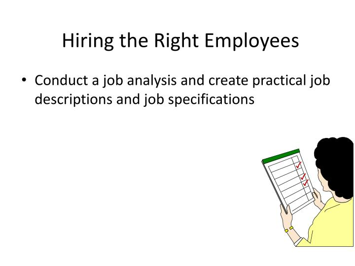 Hiring the Right Employees
