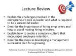 lecture review