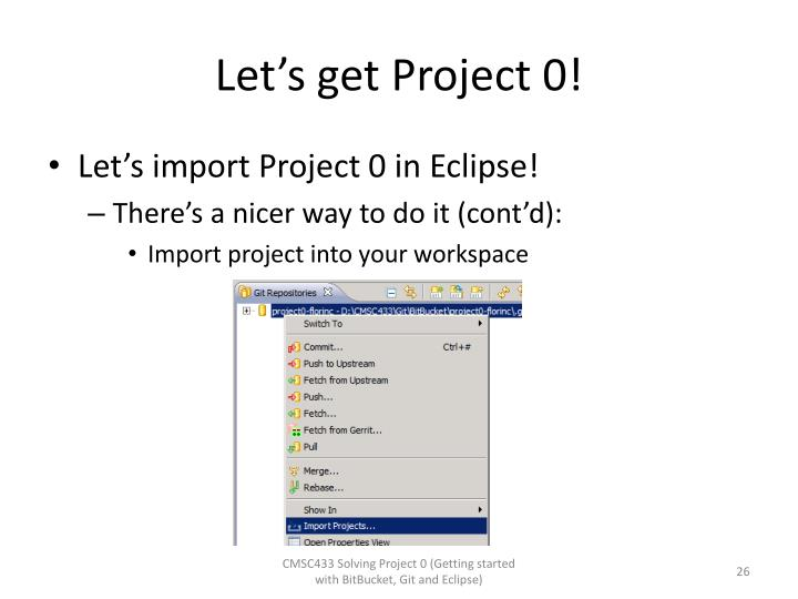 Let's get Project 0!