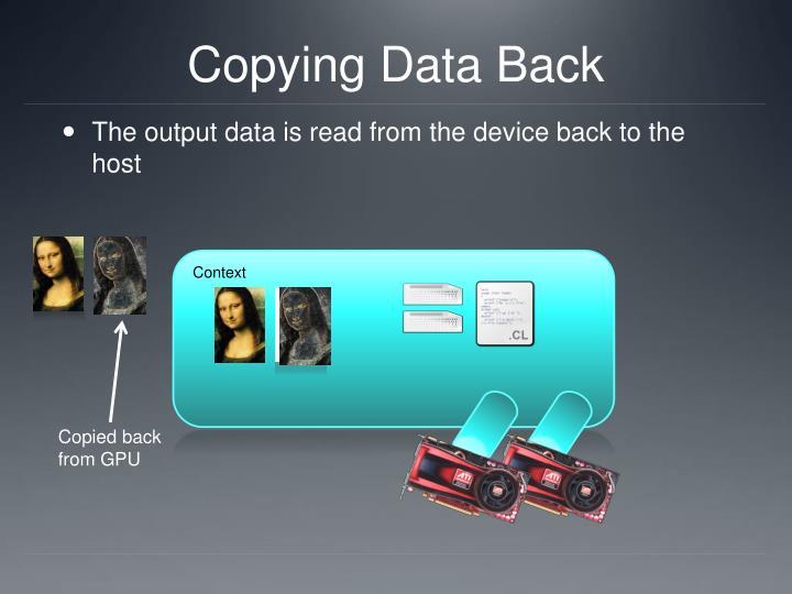 Copying Data Back