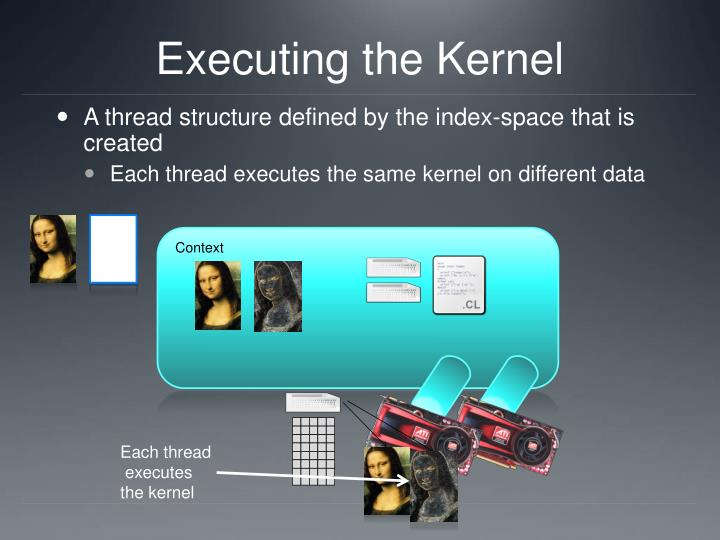 Executing the Kernel
