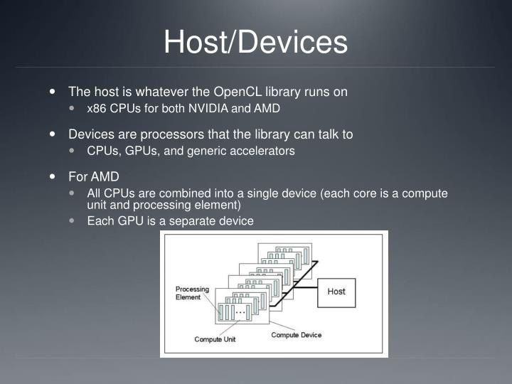 Host/Devices