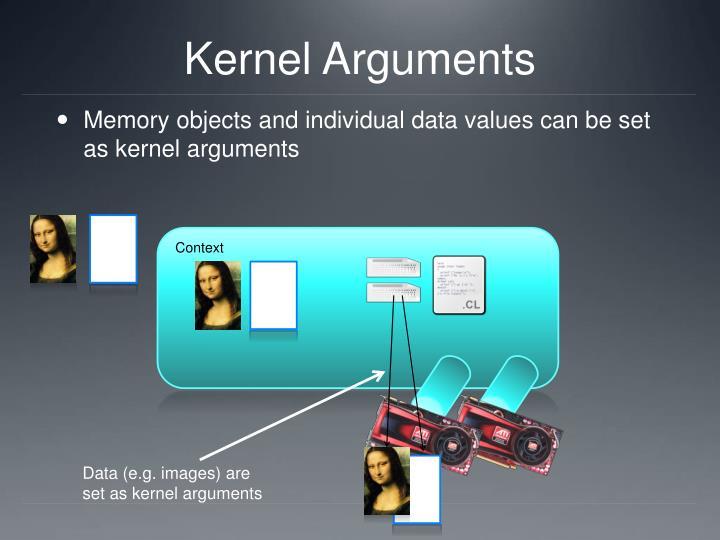 Kernel Arguments