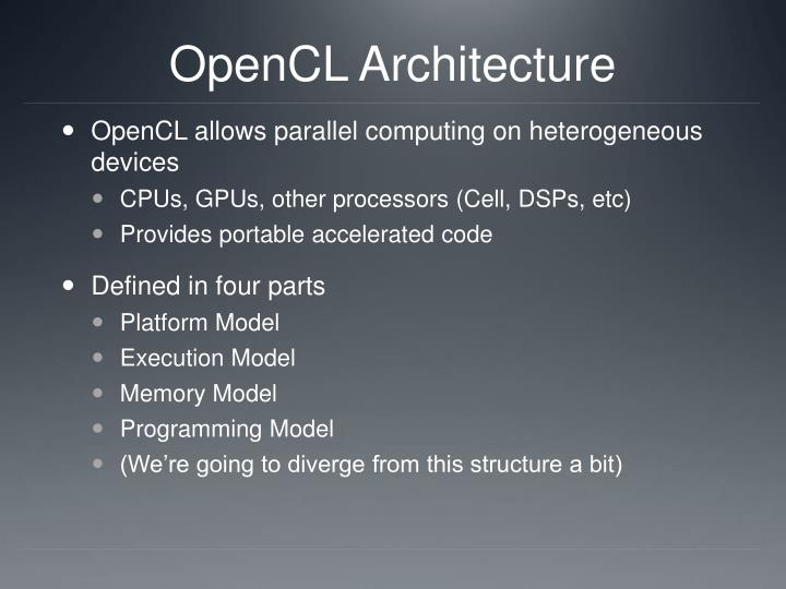 OpenCL Architecture