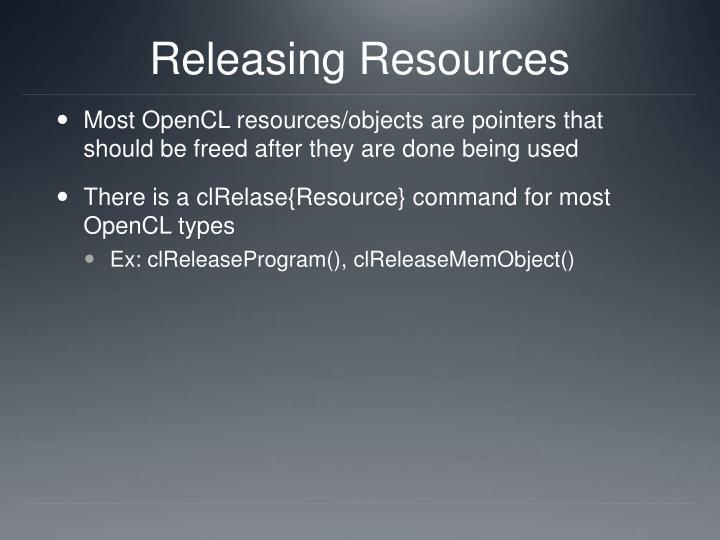 Releasing Resources
