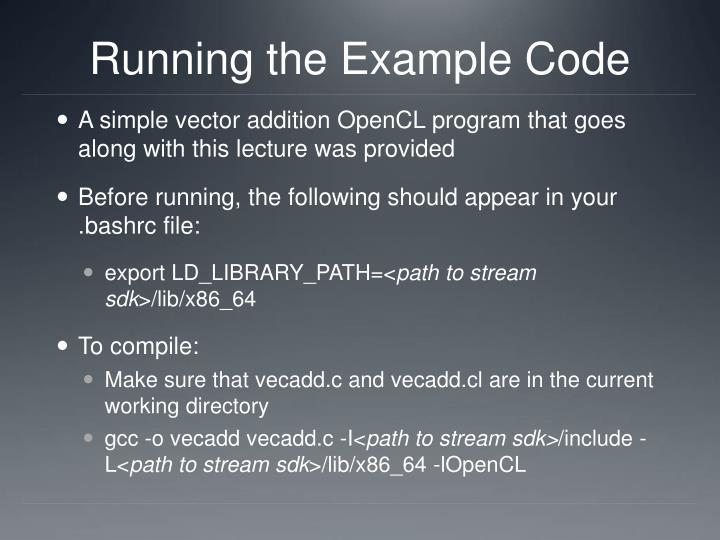 Running the Example Code