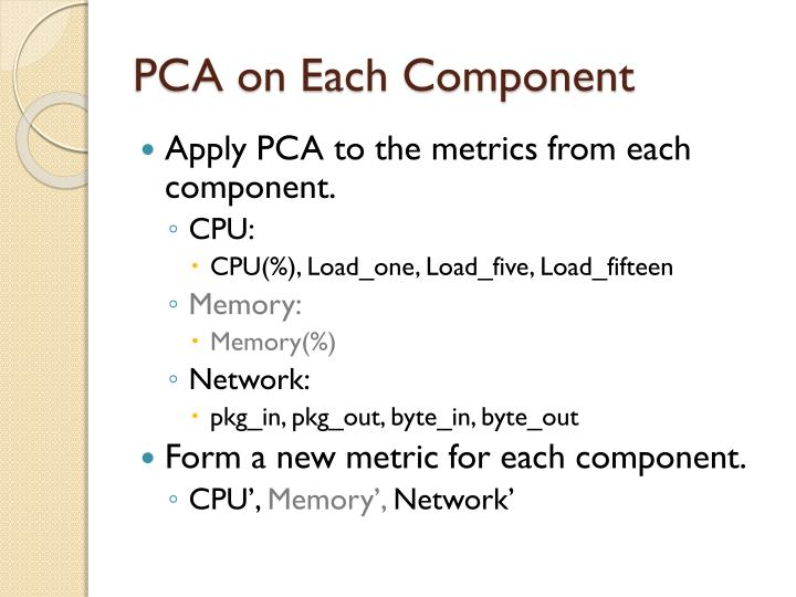 PCA on Each Component