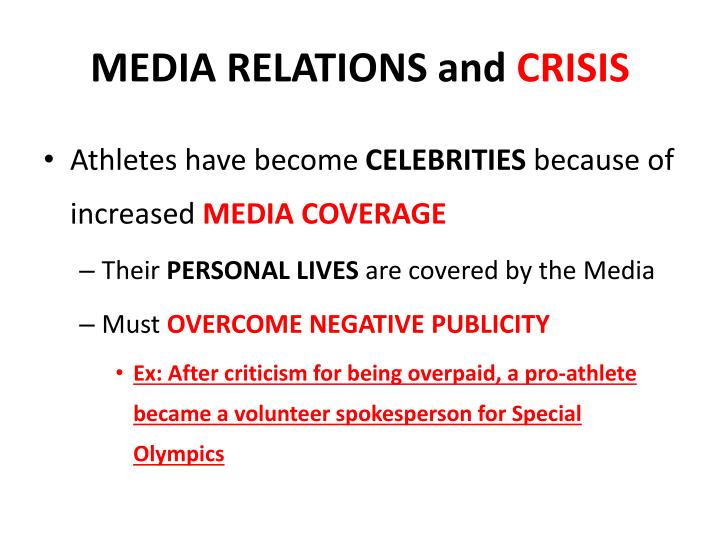 MEDIA RELATIONS and
