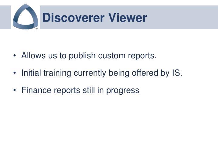 Discoverer Viewer