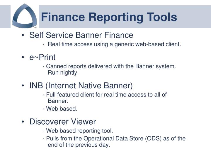 Finance Reporting Tools