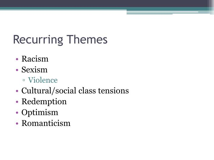 Recurring Themes