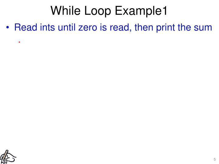 While Loop Example1