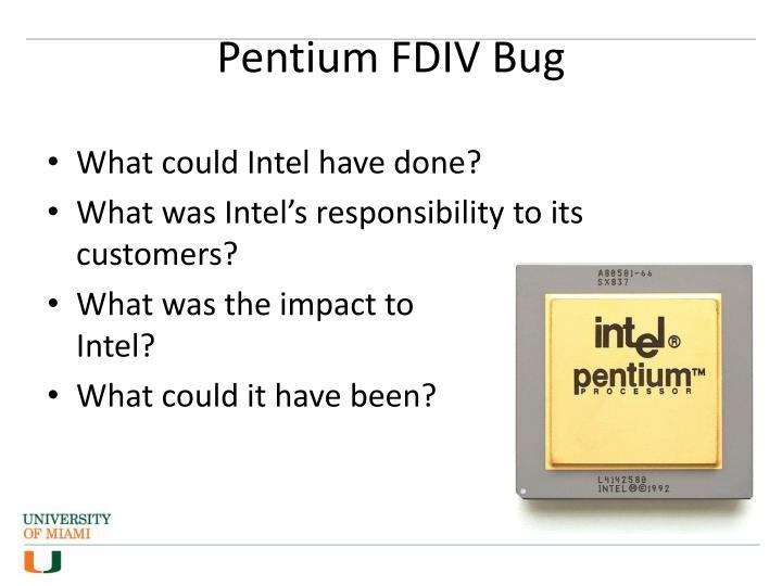 Pentium FDIV Bug