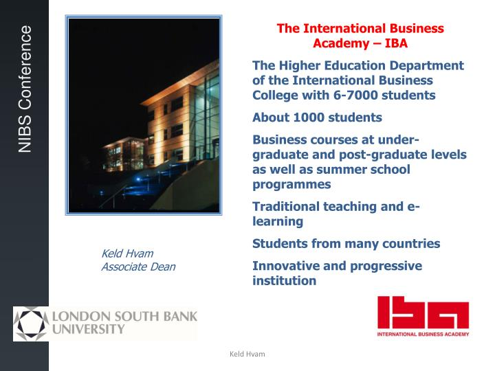 The International Business Academy – IBA