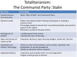 totalitarianism the communist party stalin