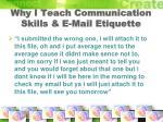 why i teach communication skills e mail etiquette
