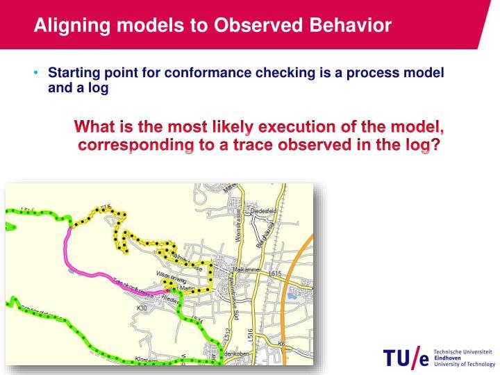 Aligning models to Observed Behavior