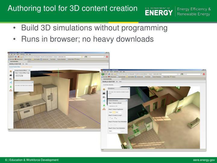 Authoring tool for 3D content creation