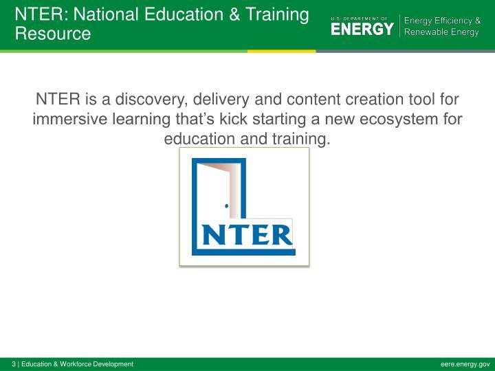 NTER: National Education & Training Resource