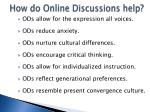 how do online discussions help