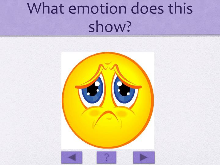 What emotion does this show?