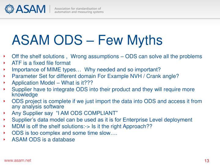 ASAM ODS – Few Myths