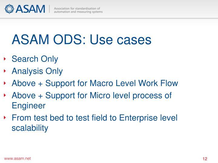 ASAM ODS: Use cases