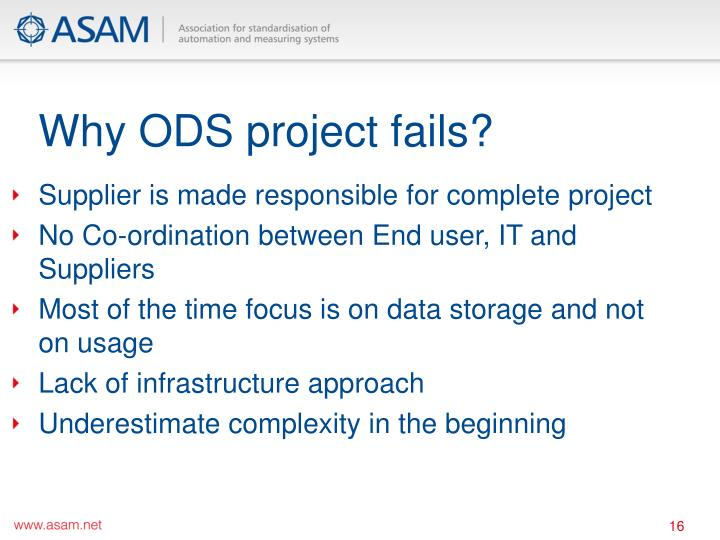 Why ODS project fails?