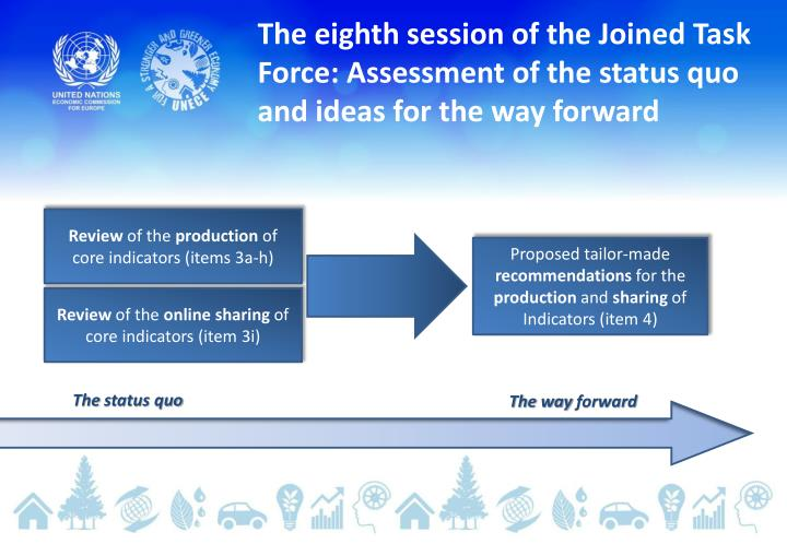 The eighth session of the Joined Task Force: Assessment of the status quo and ideas for the way forw...