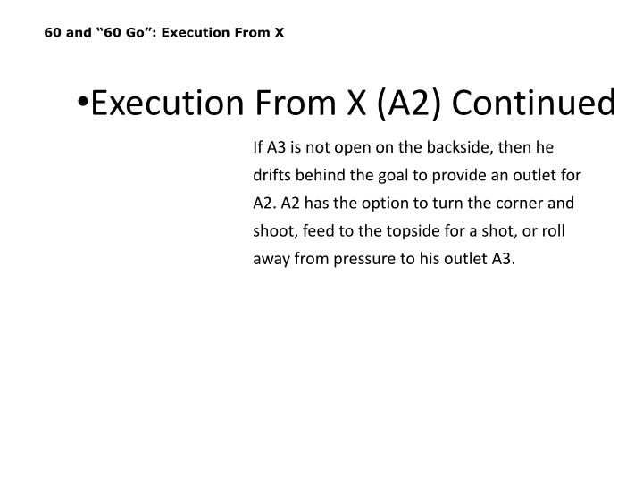 """60 and """"60 Go"""": Execution From X"""