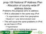 prop 100 national ip address plan allocation of country wide ip address blocks