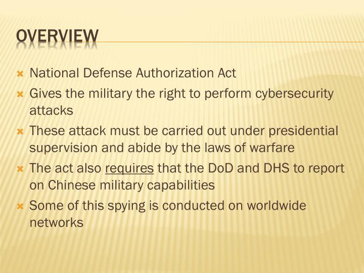 National Defense Authorization Act