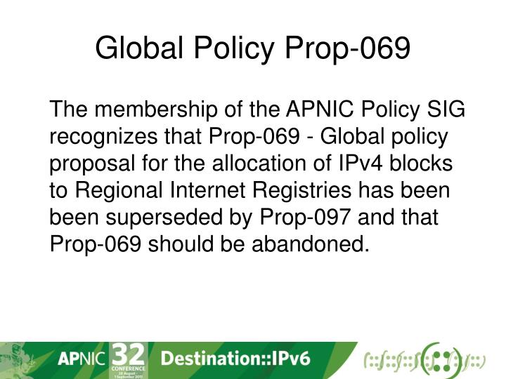 Global Policy Prop-069