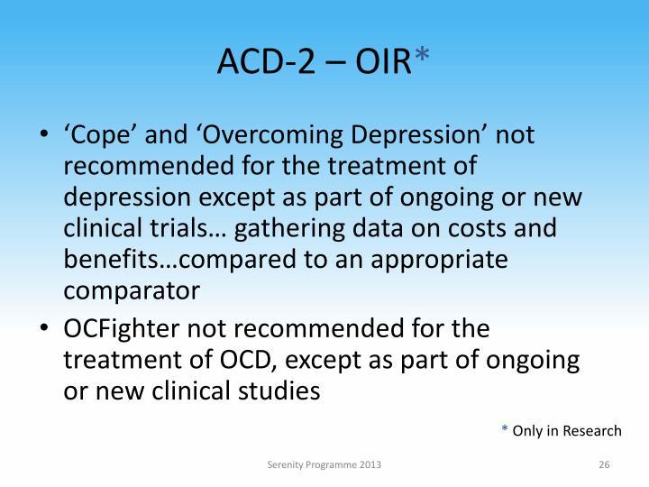 ACD-2 – OIR