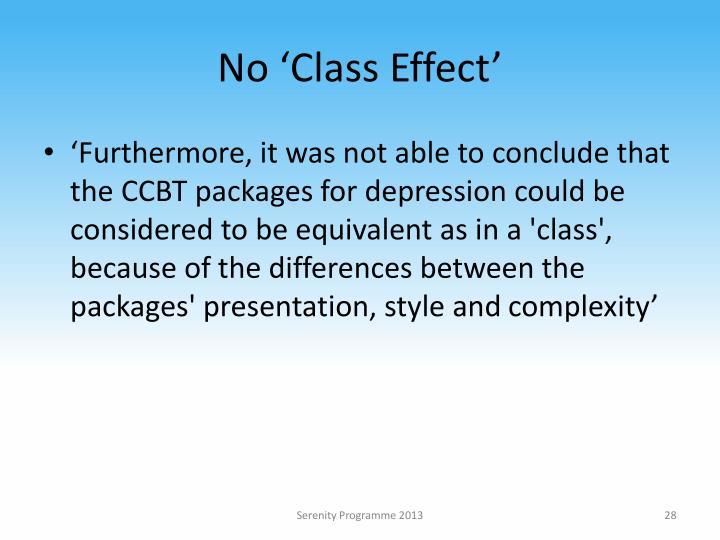 No 'Class Effect'