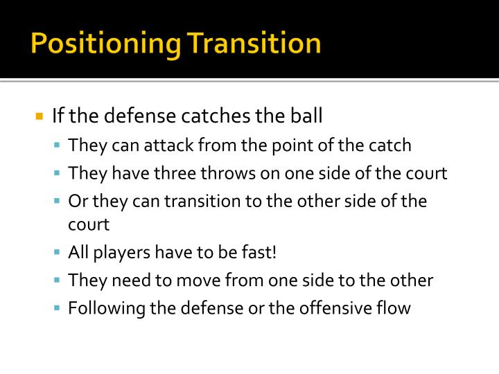 Positioning Transition