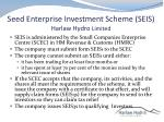 seed enterprise investment scheme seis harlaw hydro limited