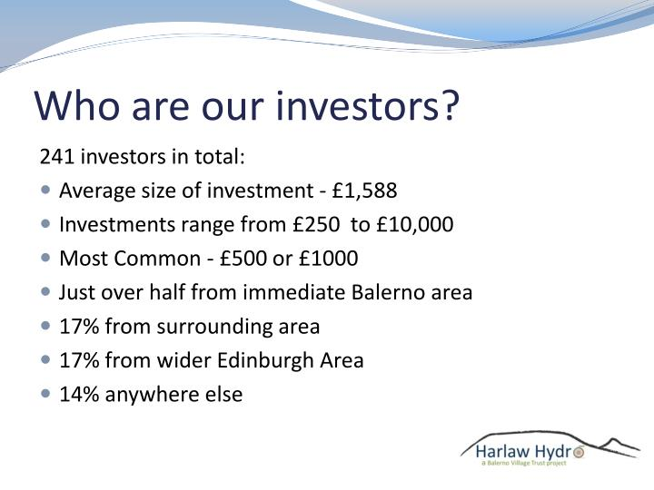 Who are our investors?