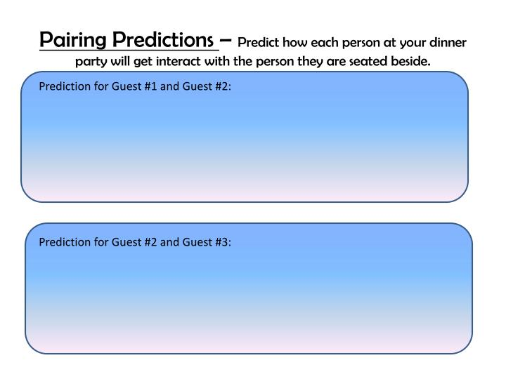 Pairing Predictions