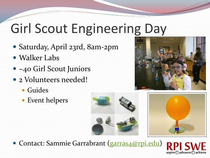 Girl Scout Engineering Day