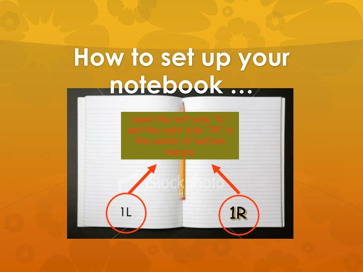 How to set up your notebook …